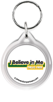 Zipper Tag: I Believe in Me Drug Free MAIN