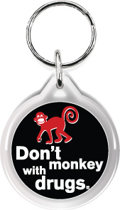 Zipper Tag: Don't Monkey with Drugs MAIN