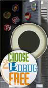 Button Magnet: Choose to be Drug Free THUMBNAIL