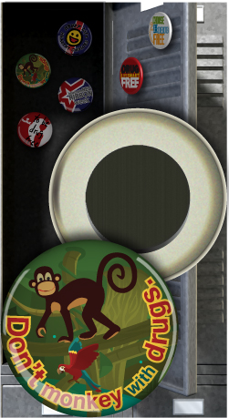 Button Magnet: Don't Monkey with Drugs MAIN