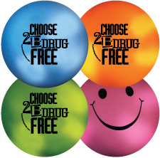 Mood Smiley Stress Ball: Choose to be Drug Free MAIN
