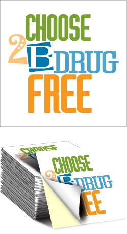 Sticker: Choose to be Drug Free MAIN