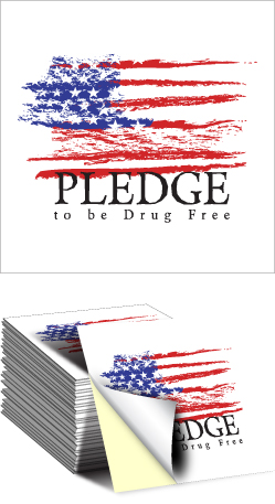 Sticker: Pledge to be Drug Free MAIN