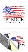 Sticker: Pledge to be Drug Free THUMBNAIL