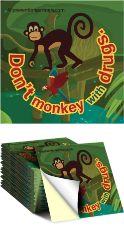 Sticker: Don't Monkey with Drugs MAIN