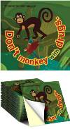 Sticker: Don't Monkey with Drugs THUMBNAIL