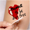 Temporary Tattoo: I Promise to be Drug Free THUMBNAIL