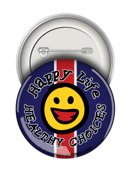 Round Button: Healthy Choices Happy Life MAIN