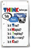 Indoor/Outdoor Vinyl Banner: THINK Before You Talk THUMBNAIL