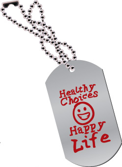 Dog Tag: Healthy Choices Happy Life MAIN