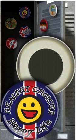 Button Magnet: Healthy Choices Happy Life MAIN
