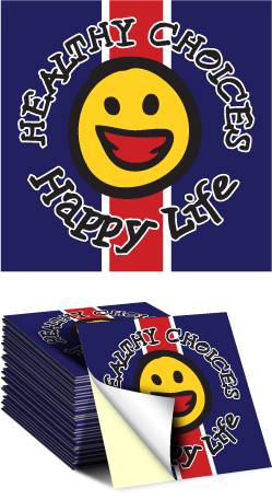 Sticker: Healthy Choices Happy Life MAIN