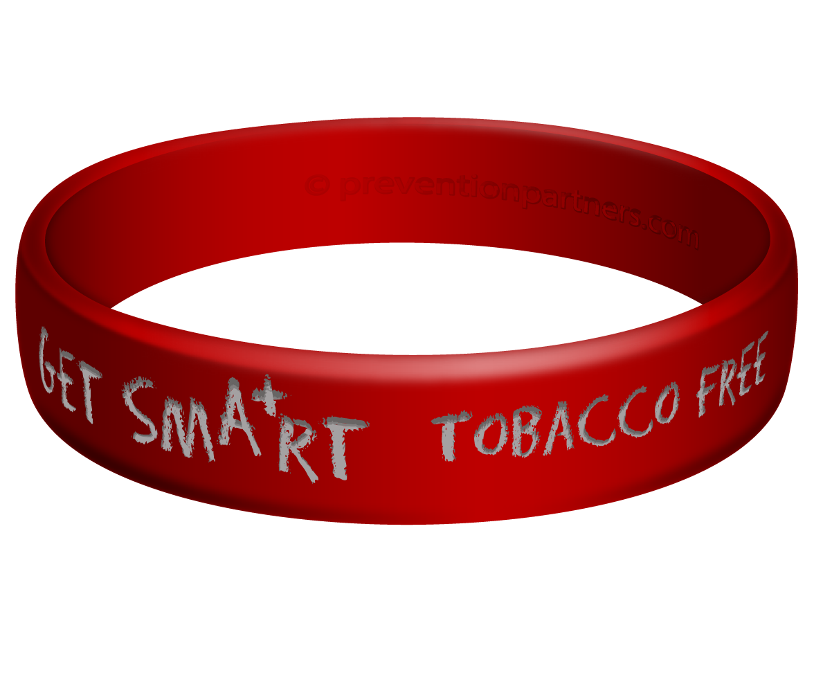 Awareness Wristband:Get Smart Tobacco Free THUMBNAIL