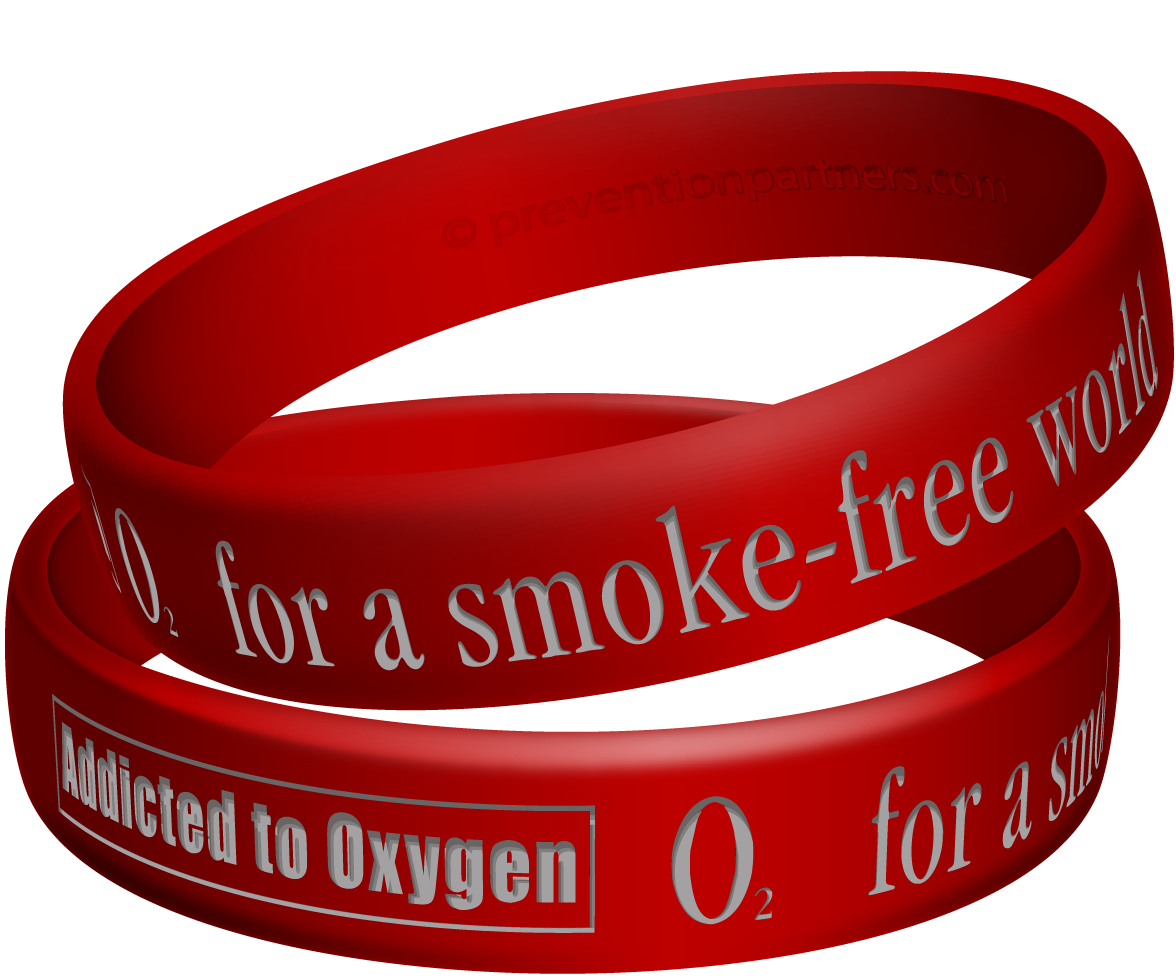 Awareness Wristband: Addicted to Oxygen THUMBNAIL
