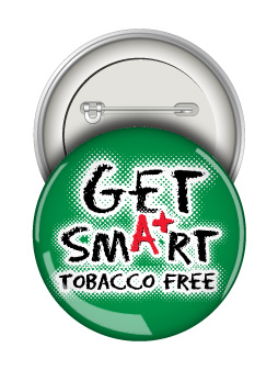 Round Button: Get Smart Tobacco Free MAIN