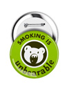 Round Button: Smoking is Unbearable THUMBNAIL