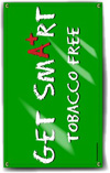 Indoor/Outdoor Vinyl Banner: Get Smart Tobacco Free THUMBNAIL