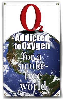 Indoor/Outdoor Vinyl Banner: Addicted to Oxygen MAIN
