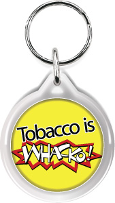 Zipper Tag: Tobacco is Whacko MAIN