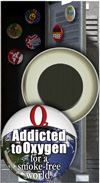 Button Magnet: Addicted to Oxygen for a Smoke Free World THUMBNAIL
