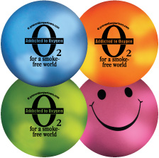 Mood Smiley Stress Ball: Addicted to Oxygen MAIN
