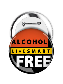 Round Button: Live Smart Alcohol Free MAIN