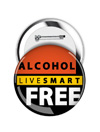 Round Button: Live Smart Alcohol Free THUMBNAIL