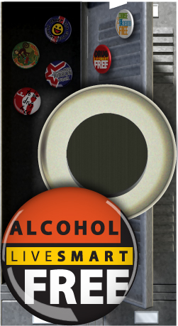 Button Magnet: Live Smart Alcohol Free MAIN
