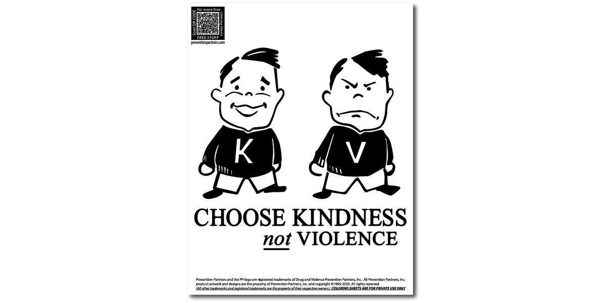 Free Downloadable Coloring Sheet Choose Kindness Prevention Partners Online Store