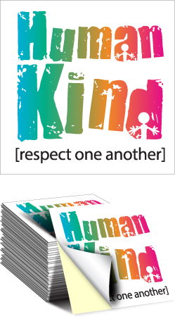 Sticker: Human Kind Respect One Another MAIN