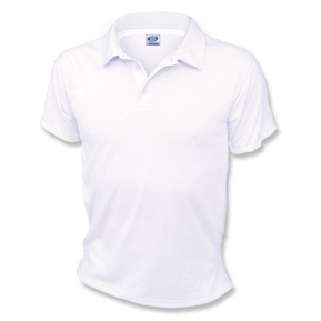 MEDIUM White Vapor Apparel Performance Polo Shirt