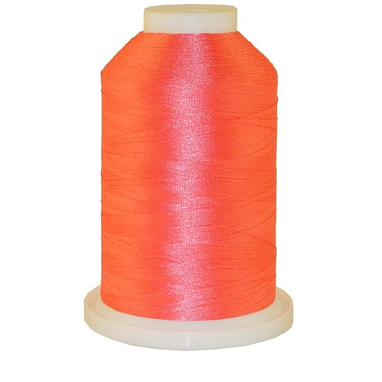 Neon Pink # 1011 Iris Trilobal Polyester Machine Embroidery & Quilting Thread - 5500 Yds
