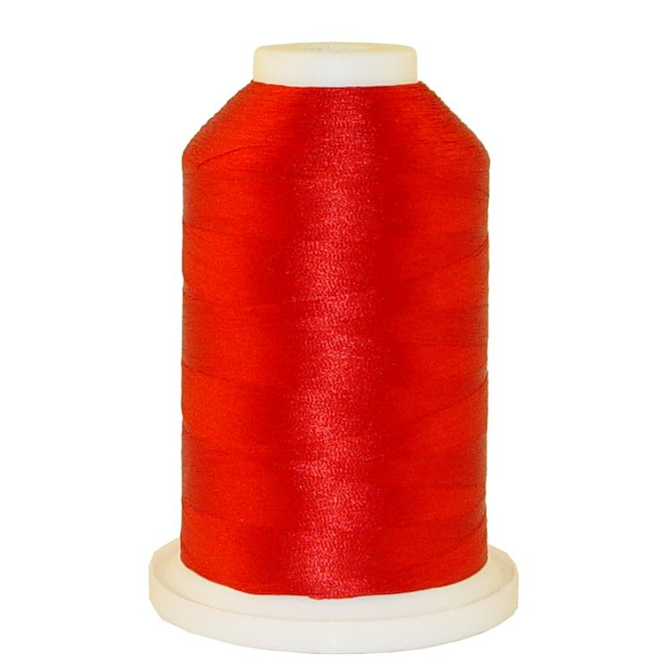 Jockey Red # 1019 Iris Trilobal Polyester Machine Embroidery & Quilting Thread - 5500 Yds