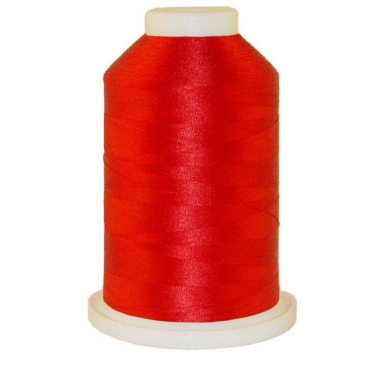 Radiant Red # 1023 Iris Trilobal Polyester Machine Embroidery & Quilting Thread - 5500 Yds