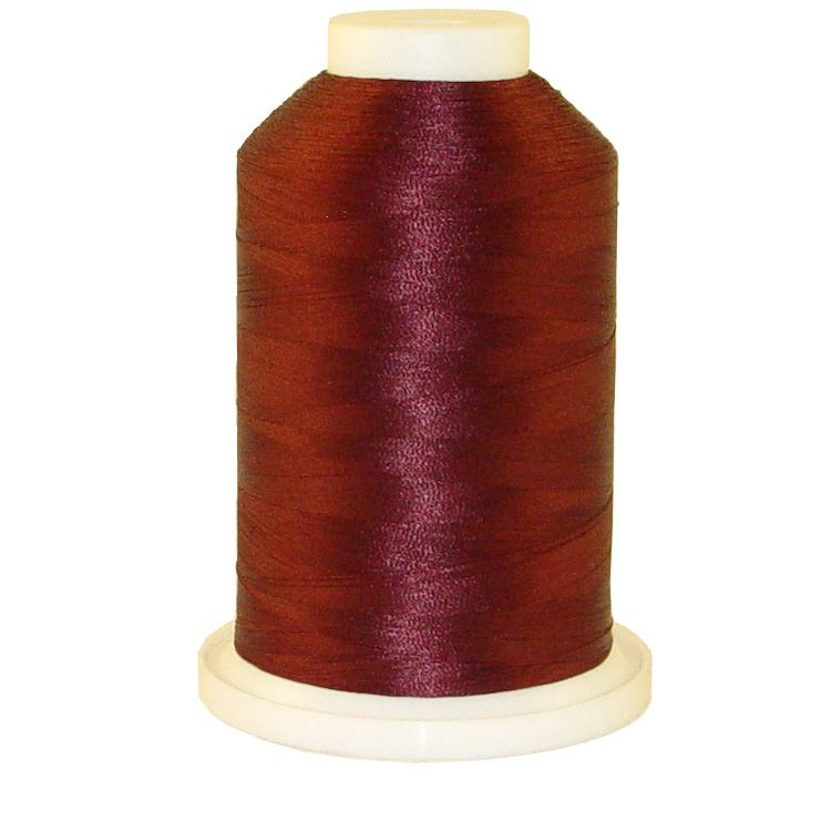 Maroon # 1025 Iris Trilobal Polyester Machine Embroidery & Quilting Thread - 5500 Yds