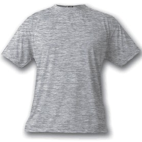 Ash Heather Grey Vapor Apparel Short Sleeve T-Shirt - Large