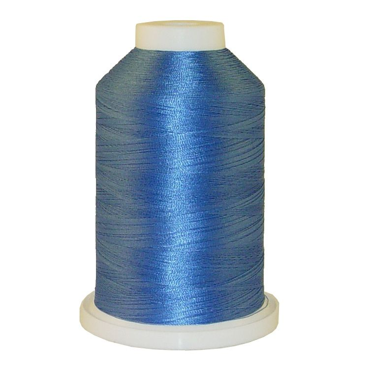 China Blue # 1030 Iris Trilobal Polyester Machine Embroidery & Quilting Thread - 5500 Yds