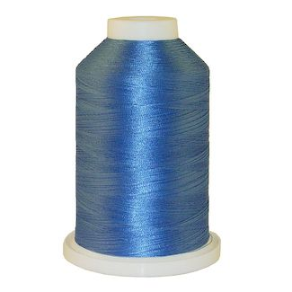 China Blue # 1030 Iris Polyester Embroidery Thread - 1100 Yds