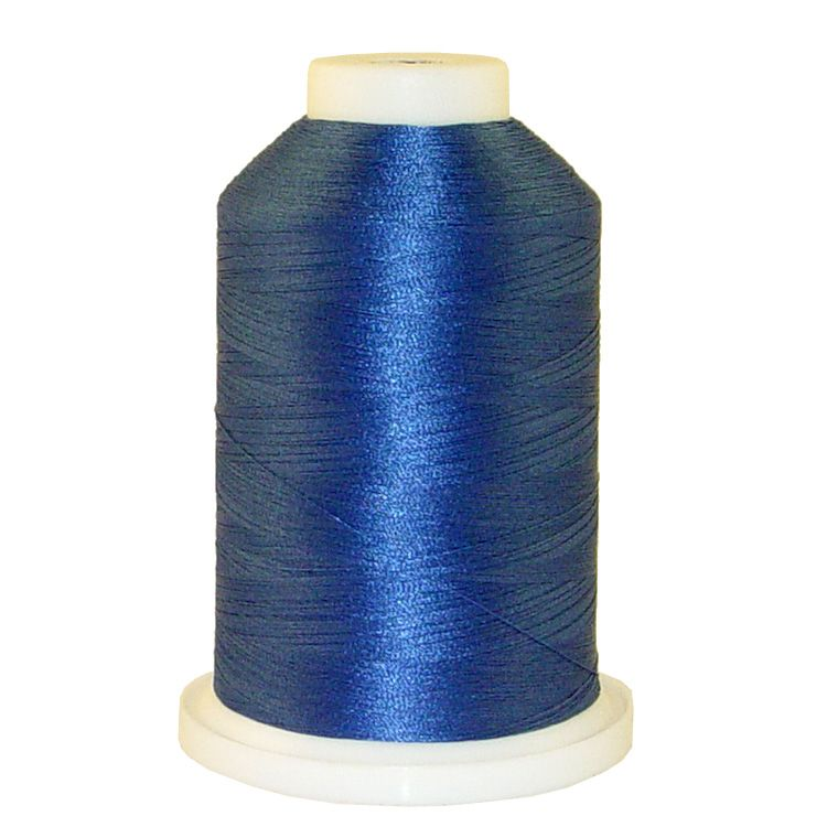 Blue Granite # 1034 Iris Trilobal Polyester Machine Embroidery & Quilting Thread - 5500 Yds