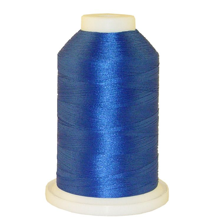 Flipper Blue # 1036 Iris Trilobal Polyester Machine Embroidery & Quilting Thread - 5500 Yds