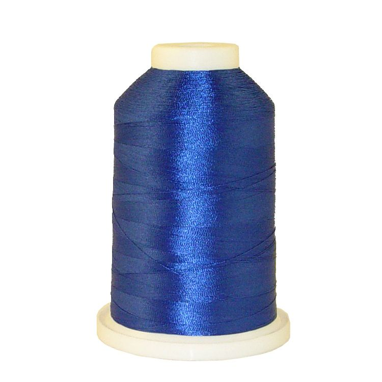 Blue # 1038 Iris Trilobal Polyester Machine Embroidery & Quilting Thread - 5500 Yds