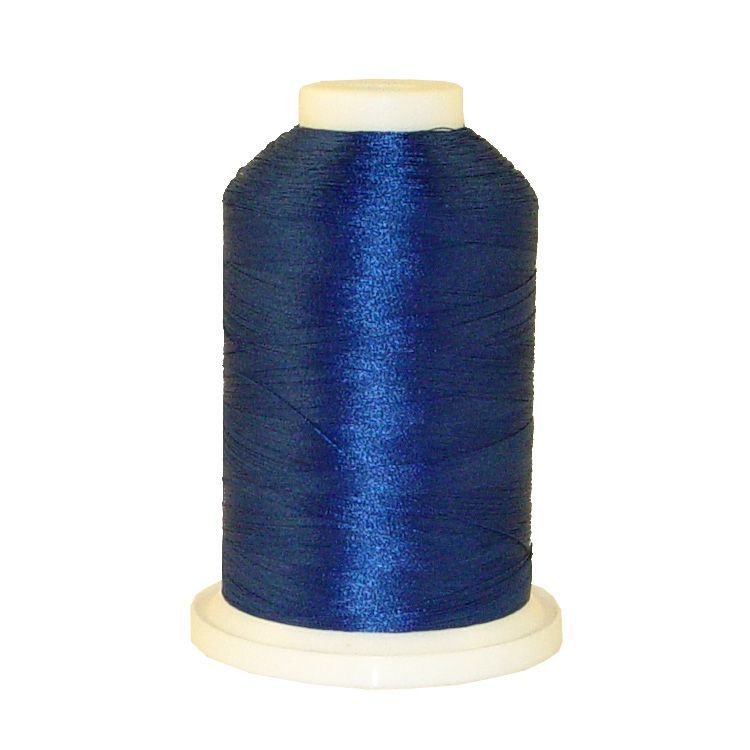 Imperial Blue # 1042 Iris Trilobal Polyester Machine Embroidery & Quilting Thread - 5500 Yds