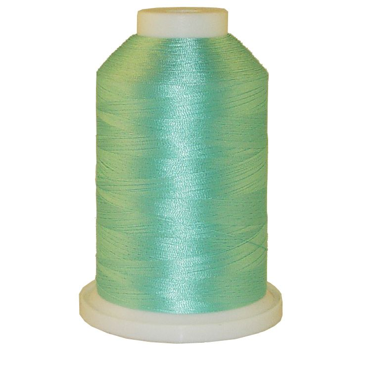 Teal Ice # 1049 Iris Trilobal Polyester Machine Embroidery & Quilting Thread - 5500 Yds