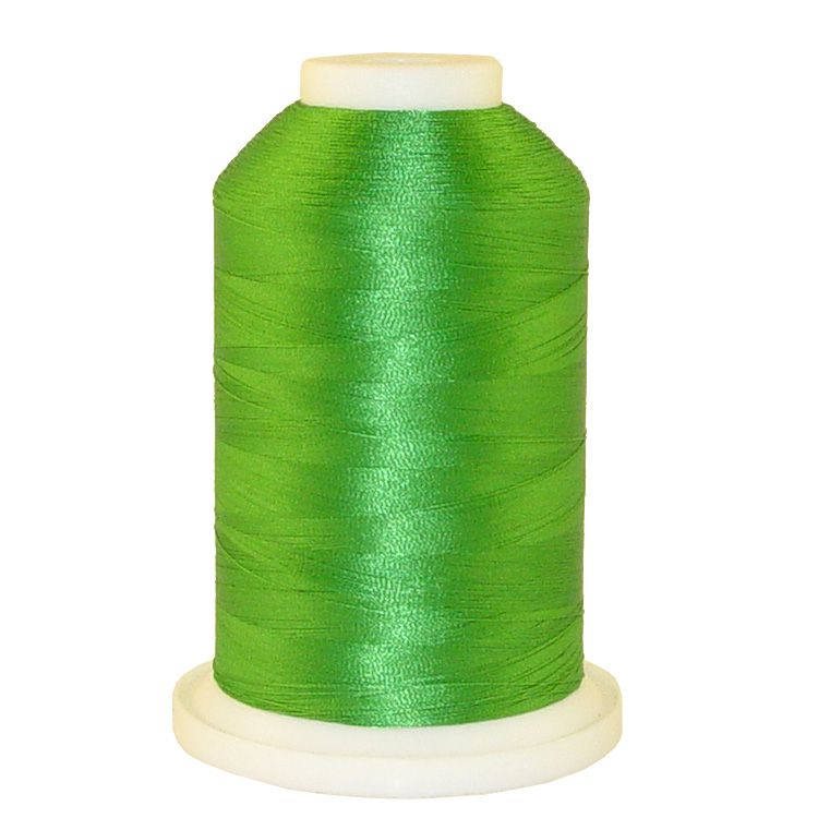 Kelly Green # 1077 Iris Trilobal Polyester Machine Embroidery & Quilting Thread - 5500 Yds
