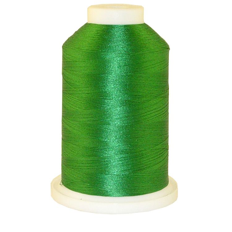 Green # 1078 Iris Trilobal Polyester Machine Embroidery & Quilting Thread - 5500 Yds