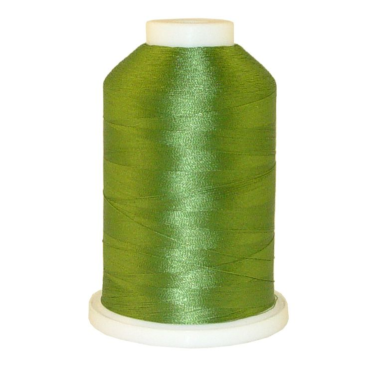 Grass Green # 1088 Iris Trilobal Polyester Machine Embroidery & Quilting Thread - 5500 Yds