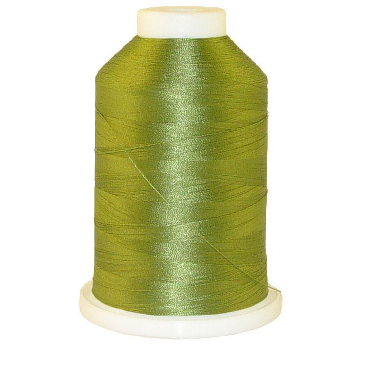 Meadow Green # 1089 Iris Trilobal Polyester Machine Embroidery & Quilting Thread - 5500 Yds