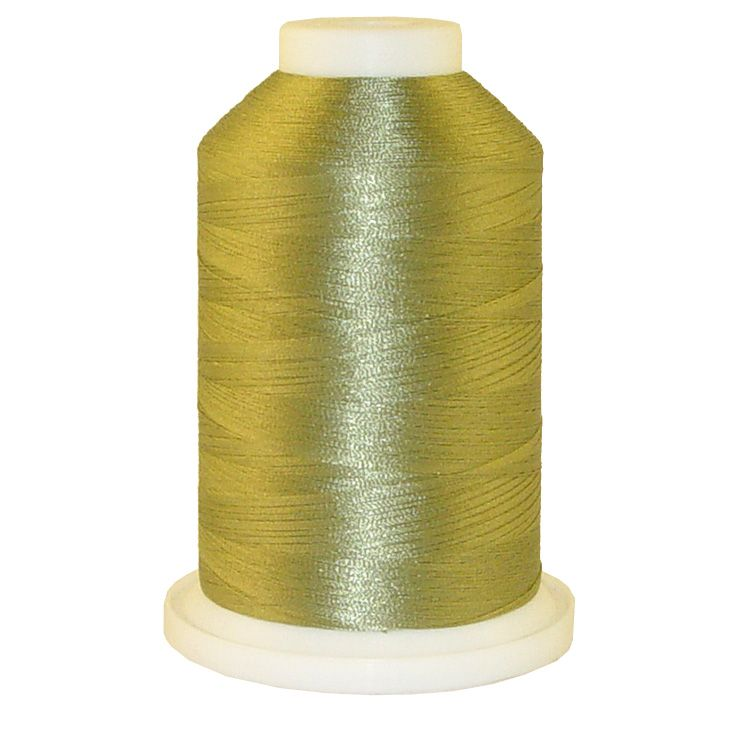 Pewter Green # 1091 Iris Trilobal Polyester Machine Embroidery & Quilting Thread - 5500 Yds