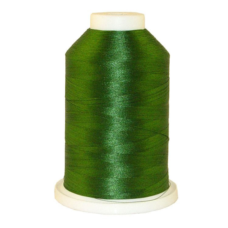 Forest Green # 1092 Iris Trilobal Polyester Machine Embroidery & Quilting Thread - 5500 Yds