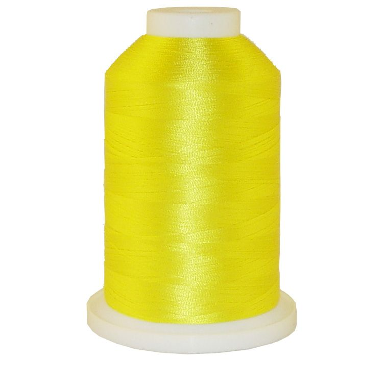 Real Yellow # 1102 Iris Trilobal Polyester Machine Embroidery & Quilting Thread - 5500 Yds